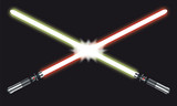 Light Saber Fight – Vector Illustration