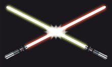 Saber Lumière Fight - Vector Illustration