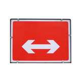 Direction arrow sign isolated