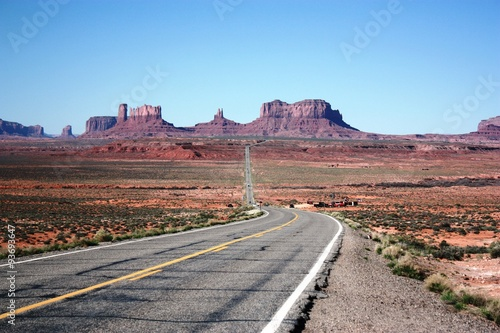 Poster Highway 163 to Monument Valley Navajo Tribal Park, Utah USA