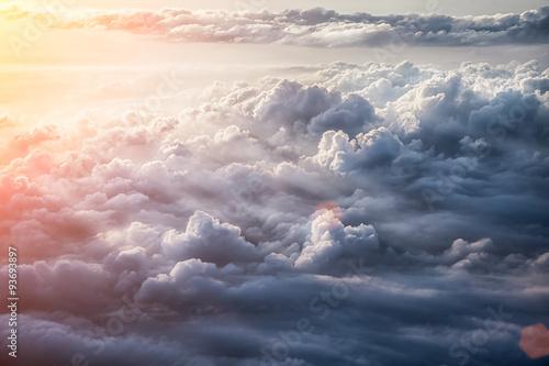 Beautiful blue sky background  - 93693897