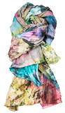 silk batik scarf in the style of patchwork