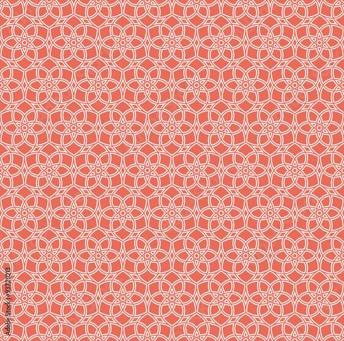 floral grid background.