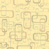 Fototapety Vector vintage beige and yellow geometric pop design background