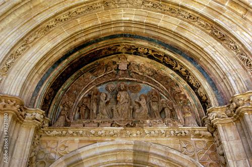 Santa Maria de los Sagrados, Puerta del Perdon, Daroca, Zaragoza