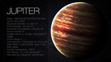 Jupiter - High resolution Infographic presents one of the solar