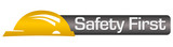 Safety First Yellow Black Horizontal