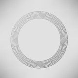 Greek Ornamental  Circle Frame
