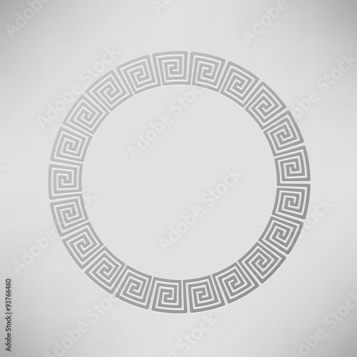Zdjęcia na płótnie, fototapety, obrazy : Greek Ornamental  Circle Frame
