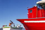 Mussel aquaculture boats poster