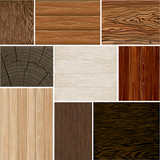 Fototapety Set  different wood textures . seamless. Vector backgrounds. Brown white beige. boards.