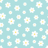 Fototapety Abstract Seamless geometric floral pattern