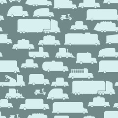 Road transport seamless  background. Repeating pattern car. Or