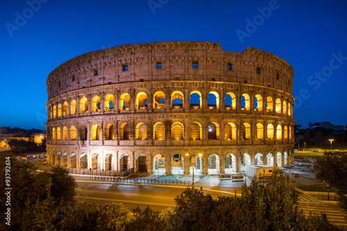 Póster Kolosseum en Roma Italia