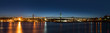 Panorama of Angus L. Macdonald Bridge that connects Halifax to D