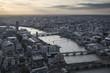 Obrazy na płótnie, fototapety, zdjęcia, fotoobrazy drukowane : London city aerial view over skyline with dramatic sky and landm