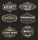 Vintage frame design for labels, banner, logo, emblem, menu, sticker and other design. Suitable for whiskey, beer, coffee shop, hotel, resort, jewelery and premium product. All type use free font.