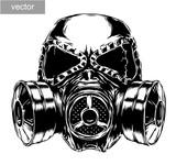 Fototapety gas mask illustration