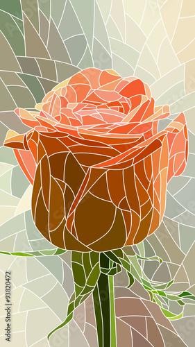 wektorowa-ilustracja-kwiat-czerwieni-roza