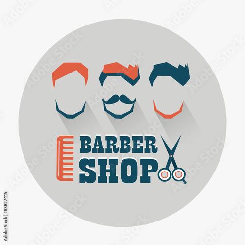 Fototapeta Barber shop emblem.