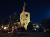 St Mary Magdalene church in Tanworth in Arden at night poster