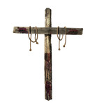 Old Bloody Cross with ropes