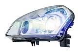 Fototapety Car headlight on a white background