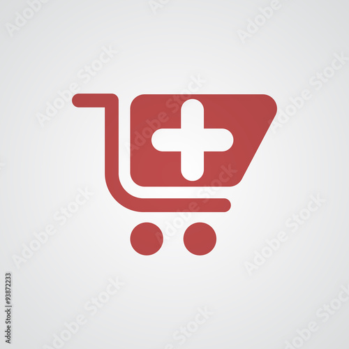 """Flat red Pharmacy Store icon"" Stock image and royalty ..."