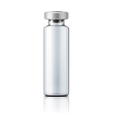 Glass medical ampoule with aluminium cap.