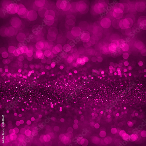 Poster Pink festive glitter background with defocused lights