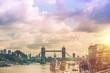 Obrazy na płótnie, fototapety, zdjęcia, fotoobrazy drukowane : London River Thames Panorama