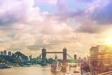 Fototapeta Big Ben - London River Thames Panorama © Tomasz Zajda