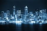 Fototapety Night in the Seattle