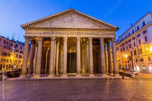 Foto op Canvas Scooter Italien, Rom, Pantheon