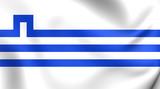 Flag of Podgorica, Montenegro. poster