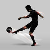 soccer player half volley - 93900028