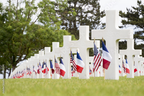 Poster Crosses in the Normandy American Cemetery and Memorial