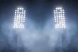 Leinwanddruck Bild - stadium lights and smoke