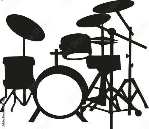 Silhouette of drums