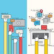 Vector modern flat design of social network