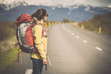 Fototapety Backpacker Tourist