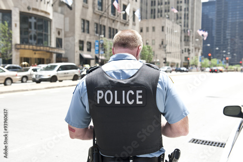 Tuinposter Chicago Policeman in Chicago
