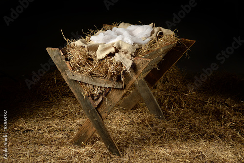 Old Manger with Soft Clothes Poster