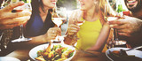 Fototapety Friend Friendship Dining Celebration Hanging out Concept