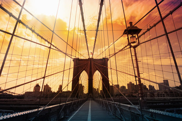 Fototapeta Brooklyn Bridge, Nowy York, USA