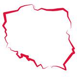 Mapa Polski - kontur
