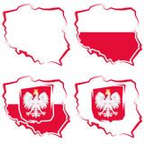 Ilustracja map Polski