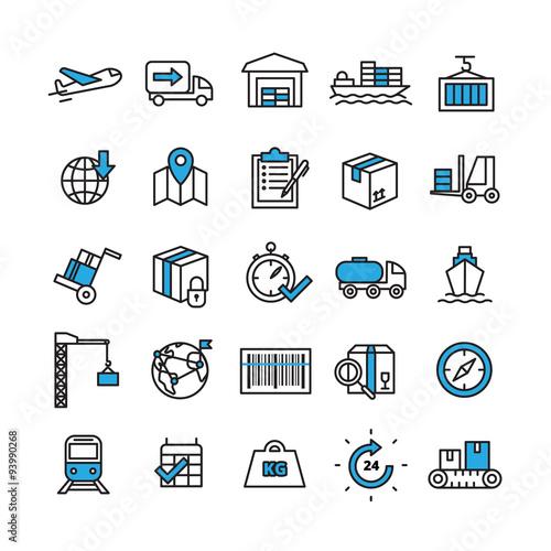 Logistics Icons Set © macrovector