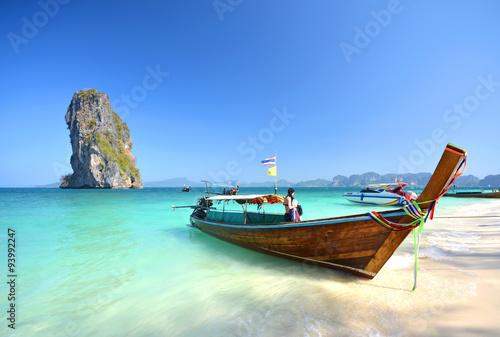 Poster Krabi poda island in Thailand, Andaman sea