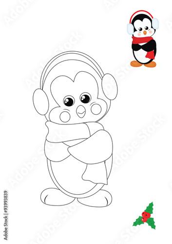 Illustration pagina da colorare pinguino - Phoenix pagina da colorare ...